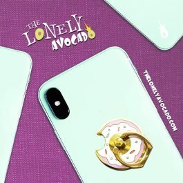 Pink Donut Phone Grip | Phone Accessories | Food Gift | The Lonely Avocado