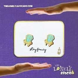TEAL BLUE RING POP EARRINGS