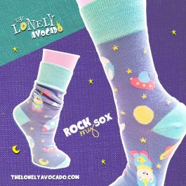 ASTRONAUT SPACE CAT SOCKS – ROCK MY SOX