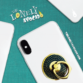 Simple Black Phone Grip | Phone Holder | Ohh! Ring | The Lonely Avocado