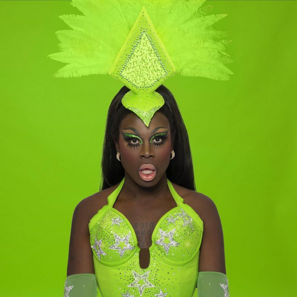 Bob The Drag Queen Green Vegas Outfit