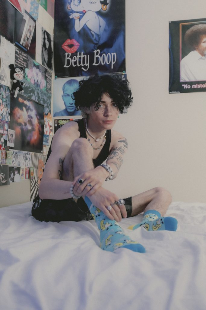 Heir Of Atticus wearing Banana Socks