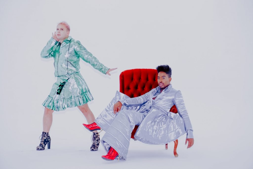 Fab The Duo - It's A Party For Two - Glam - Fancy Green Purple - High Heels