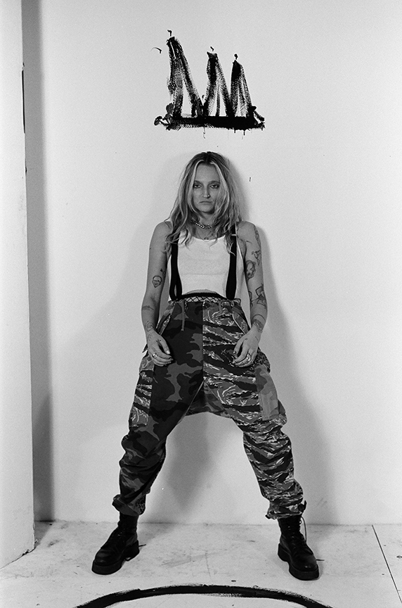 Royal & The Serpent - Exclusive Interview - BW - Graffiti Crown - Camo Pants - The Lonely Avocado