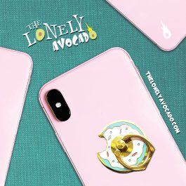 Blue Donut Phone Grip | Phone Accessories | Food Gift | The Lonely Avocado