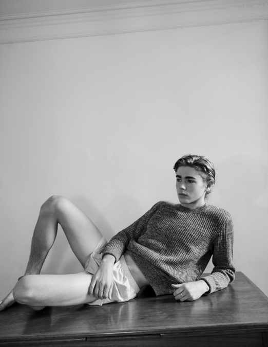 Charlie Besso White Boxers - Long Sleeve Shirt - Legs - The Lonely Avocado