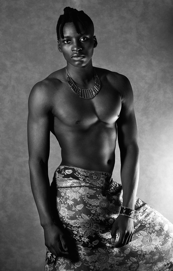 Joseph Ayinla - Shirtless Boy - Necklace - BW - The Lonely Avocado