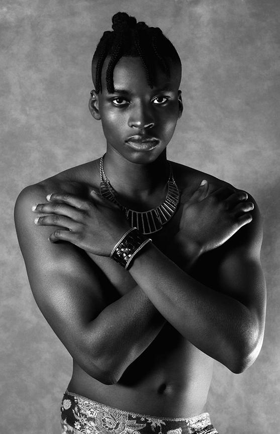 Joseph Ayinla - Shirtless Boy - BW photography